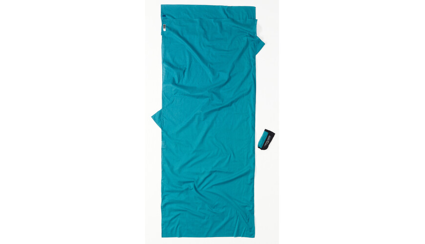 Cocoon Insect Shield TravelSheet Sovepose Egyptian Cotton blå